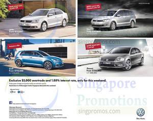 Featured image for Volkswagen Jetta, Golf, Passat & Sharan Offers 18 Oct 2014