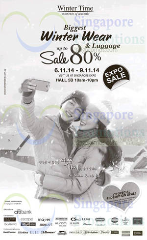 Featured image for Winter Time Expo Event @ Singapore Expo 6 – 9 Nov 2014