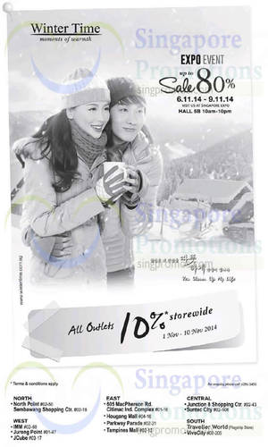 Featured image for Winter Time 10% Off Storewide 1 – 10 Nov 2014