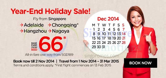 Year End Holiday Sale From 66 Base Fare