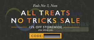 Featured image for Zalora 15% OFF Storewide Promo Code (inc Sale Items) 1 – 3 Nov 2014