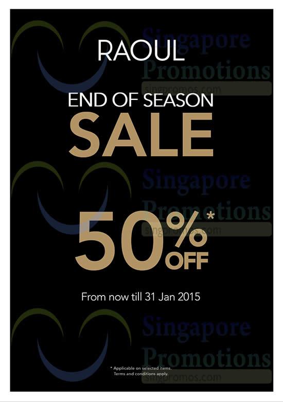 16 Jan 50 Percent Off From Now till 31 Jan 2015