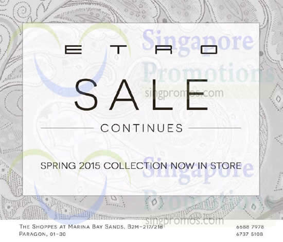 17 Dec Sale Continues 2015 Spring Collection