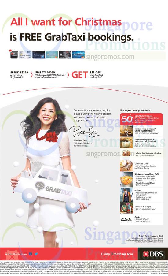 20 Nov Offers Grand Hyatt, Fairmont Singapore, Holiday Inn, O Coffee Club, Xin Wang Hong Kong Cafe, G2000, Crabtree n Evelyn, Clarks