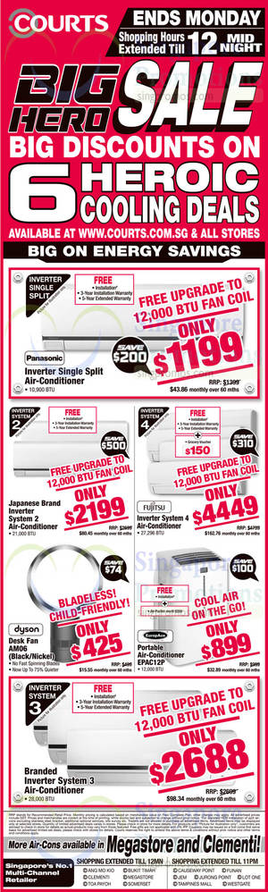 Featured image for Courts Big Hero Sale Offers 8 – 10 Nov 2014