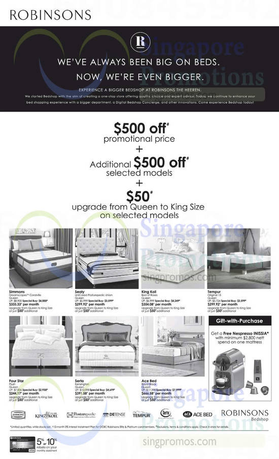 Featured image for Robinsons Mattresses & Bedsheet Sets Offers 31 Oct 2014