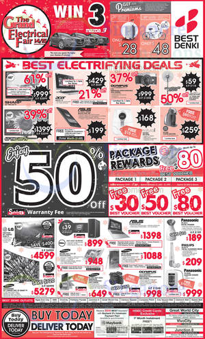 Featured image for Best Denki TV, Appliances & Other Electronics Offers 21 – 24 Nov 2014