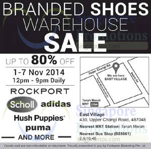 Featured image for Footwear Marketing Branded Shoes Warehouse Sale 1 – 7 Nov 2014