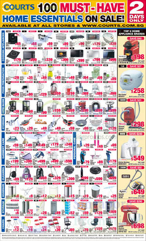 Featured image for Courts 100 Must-Have Home Essentials Sale 20 – 21 Nov 2014