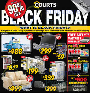 Featured image for Courts Up To 90% Off 1-Day Black Friday Sale 28 Nov 2014