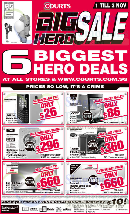 Electronics, Mobile Phones, Tablets, Washers, TVs, Digital Cameras, Air Conditioners, Nokia, Acer, Nikon