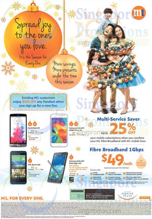 Featured image for M1 Smartphones, Tablets & Home/Mobile Broadband Offers 15 – 21 Nov 2014