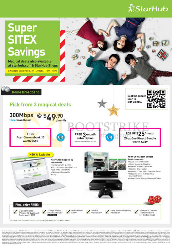 Featured image for StarHub SITEX 2014 Smartphones, Tablets, Cable TV & Broadband Offers 27 - 30 Nov 2014