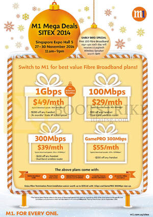 Featured image for M1 SITEX 2014 Smartphones, Tablets & Home/Mobile Broadband Offers 27 – 30 Nov 2014