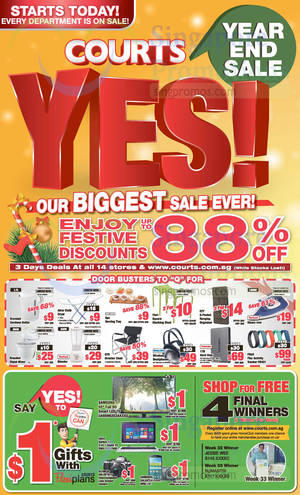 Featured image for Courts Year End Sale Offers 29 Nov – 1 Dec 2014