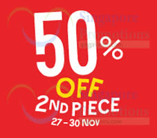 Featured image for Fox 50% Off 2nd Piece Christmas Weekend Special 27 – 30 Nov 2014