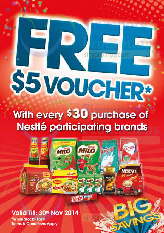 Free 5 Dollar Voucher With 30 Dollar Purchase