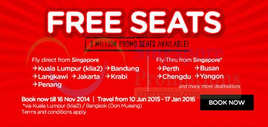 Free Seats 3 Million Available