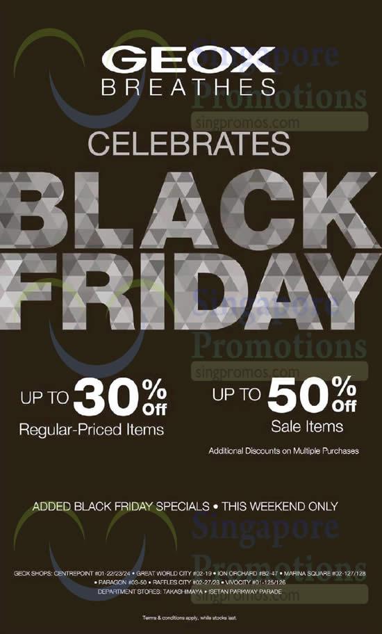 presa all'ingrosso uk sporco negozio outlet Geox Breathes Black Friday Promo 28 – 30 Nov 2014