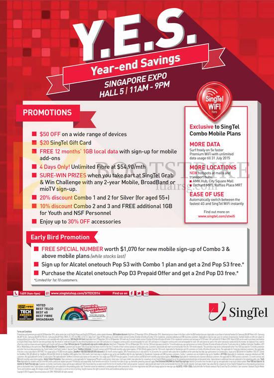 Featured image for Singtel SITEX 2014 Smartphones, Tablets, Broadband & Mio TV Offers 27 - 30 Nov 2014