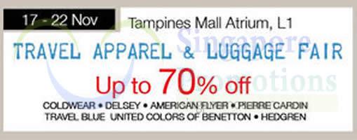 Isetan Travel Apparel n Luggage Fair 7 Nov 2014