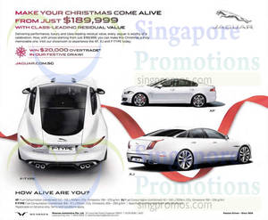 Featured image for Jaguar XF, XJ & F-Type Offers 1 Nov 2014