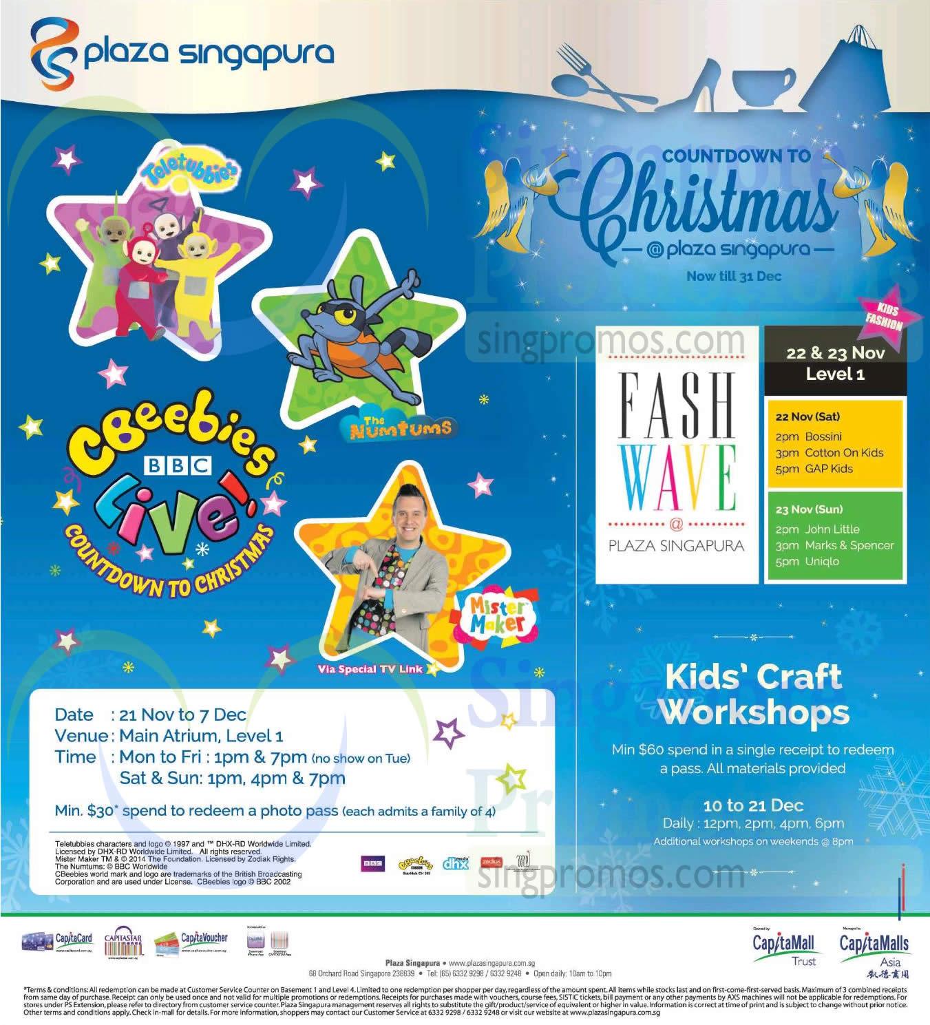 Plaza Singapura Christmas Promotions amp Activities 21 Nov