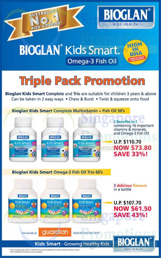 Kids Smart Complete Multivitamin And Fish Oil, Omega 3 Fish Oil Trio