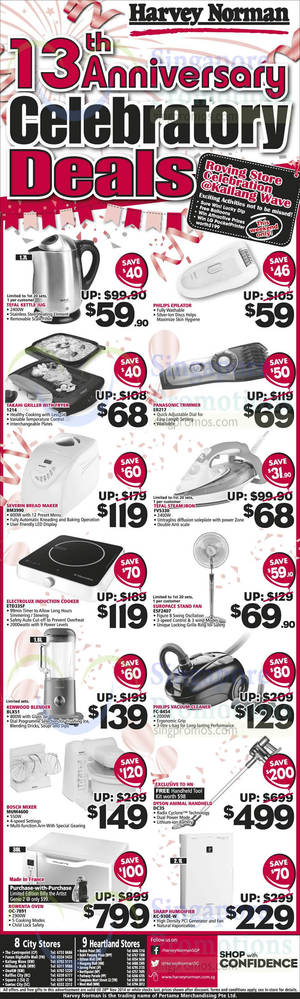 Featured image for Harvey Norman Electronics & Furniture Offers 22 – 28 Nov 2014