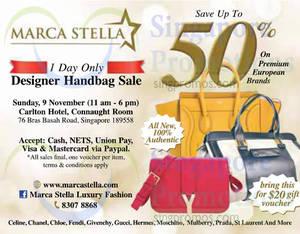 Marca Stella Designer Handbags Sale   Concorde Hotel 9 Nov 2014 33464227e169d