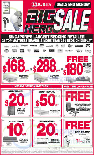 Featured image for Courts Big Hero Sale Offers 22 – 24 Nov 2014