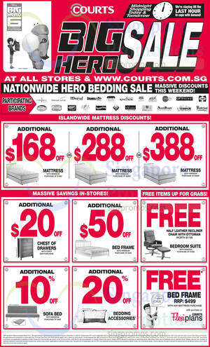 Featured image for Courts Big Hero 48hr Sale 15 – 16 Nov 2014