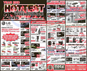 Featured image for Mega Discount Store TVs, Appliances & Gas Hob Offers 16 – 17 Nov 2014