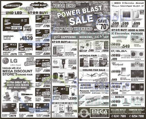 Featured image for Mega Discount Store TVs, Appliances & Gas Hob Offers 22 – 23 Nov 2014
