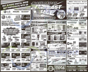 Featured image for Mega Discount Store TVs, Gas Hobs & Appliances Offers 29 – 30 Nov 2014