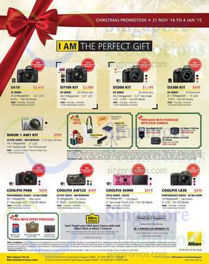 Featured image for Nikon Digital Cameras Christmas Promo Offers 21 Nov 2014 – 4 Jan 2015