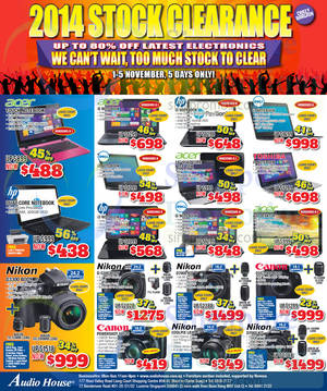 Featured image for Audio House Electronics, TV, Notebooks & Appliances Offers 1 – 5 Nov 2014