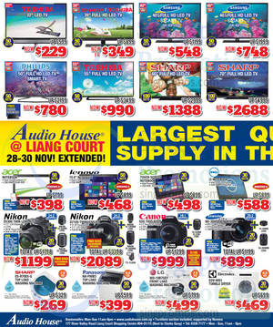 Featured image for Audio House Electronics, TV, Notebooks & Appliances Offers @ Liang Court 28 Nov – 7 Dec 2014
