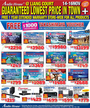 Featured image for Audio House Electronics, TV, Notebooks & Appliances Offers @ Liang Court 14 – 16 Nov 2014