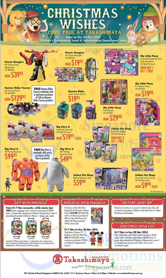 Takashimaya Childrens Department Offers 7 Nov 2014