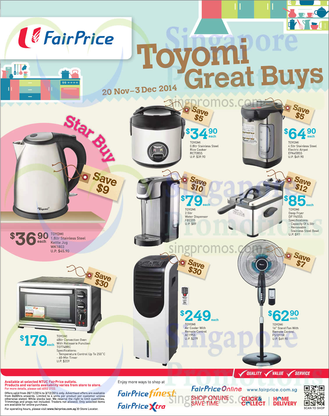 Toyomi Kitchen Home Appliances Fans Rice Cookers