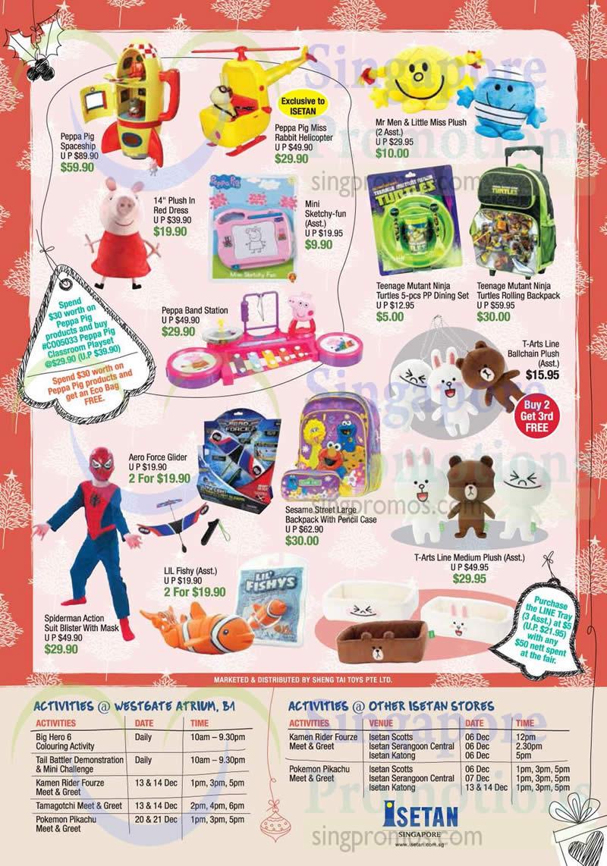 Toys, Peppa Pig, Mr Men And Little Miss, Teenage Mutant Ninja Turtles, Sesame Street, Spiderman