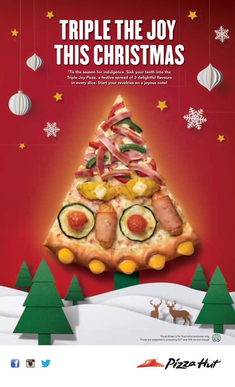 Is Pizza Hut Open On Christmas.Triple The Joy This Christmas Pizza Hut New Triple Joy