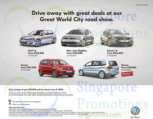 Featured image for Volkswagen Great World City Roadshow 14 – 18 Nov 2014