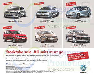 Featured image for Volkswagen Stocktake Sale Offers 8 – 9 Nov 2014