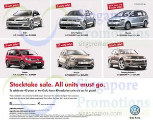 Featured image for Volkswagen Stocktake Sale Offers 1 – 2 Nov 2014