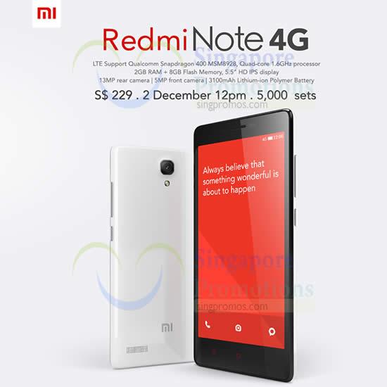 Xiaomi New Redmi Note 4g Amp Accessories Online Sale 2 Dec 2014