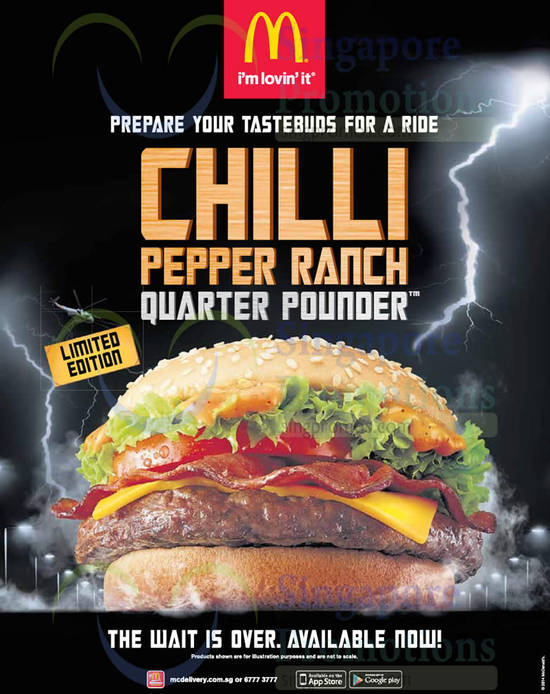 18 Dec New Chilli Pepper Ranch Quarter Pounder Now Available