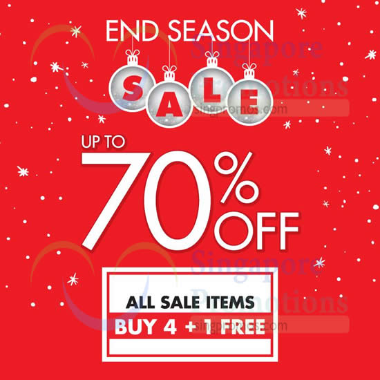 23 Dec All Sale Items Buy 4 Get 1 Free