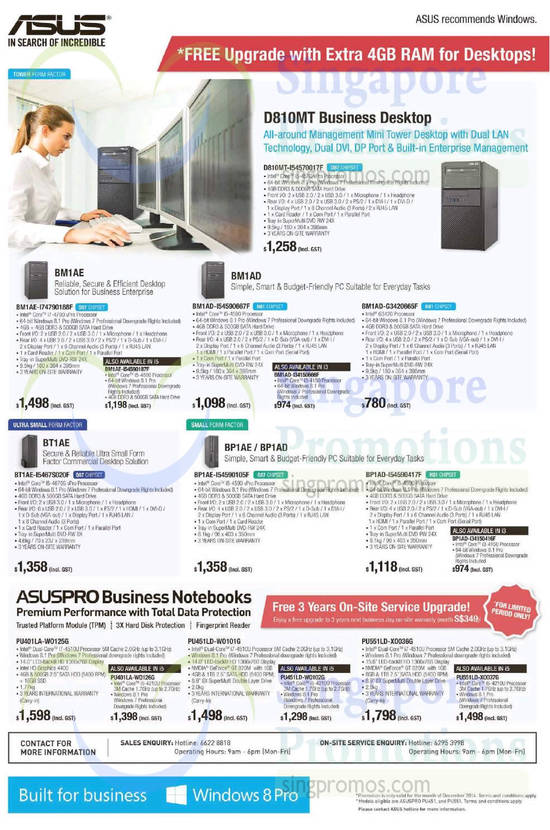 ASUS Business PCs, Notebooks 10 Dec 2014